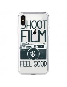 Coque iPhone X et XS Shoot Film and Feel Good Transparente - Victor Vercesi