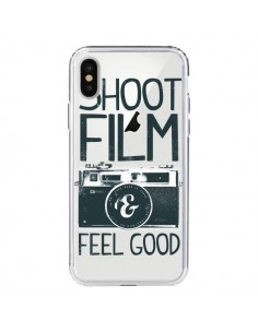 Coque Shoot Film and Feel Good Transparente pour iPhone X - Victor Vercesi