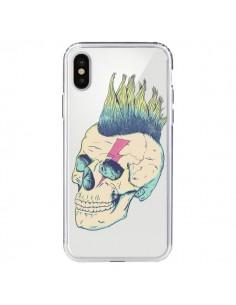 Coque Tête de Mort Crane Punk Transparente pour iPhone X - Victor Vercesi
