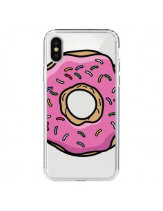 Coque Donuts Rose Transparente pour iPhone X - Yohan B.