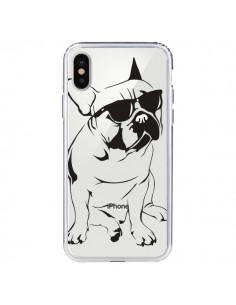 Coque iPhone X et XS Chien Bulldog Dog Transparente - Yohan B.