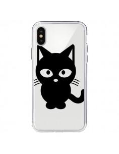 Coque Chat Noir Cat Transparente pour iPhone X et XS - Yohan B.