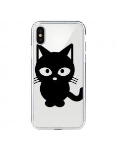 Coque iPhone X et XS Chat Noir Cat Transparente - Yohan B.