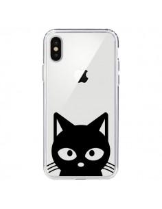 Coque Tête Chat Noir Cat Transparente pour iPhone X et XS - Yohan B.