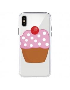 Coque iPhone X et XS Cupcake Cerise Transparente - Yohan B.