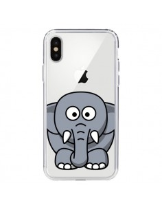 Coque iPhone X et XS Elephant Animal Transparente - Yohan B.