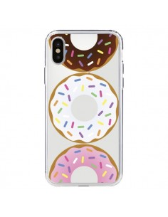 Coque iPhone X et XS Bagels Bonbons Transparente - Yohan B.