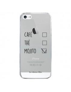 Coque iPhone 5/5S et SE Café, Thé et Mojito Transparente - Les Vilaines Filles