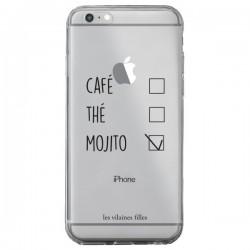 Coque iPhone 6 Plus et 6S Plus Café, Thé et Mojito Transparente - Les Vilaines Filles