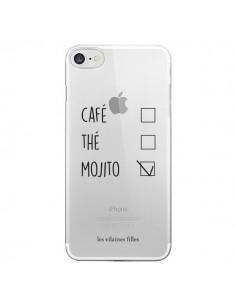 Coque iPhone 7/8 et SE 2020 Café, Thé et Mojito Transparente - Les Vilaines Filles