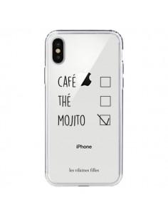 Coque iPhone X et XS Café, Thé et Mojito Transparente - Les Vilaines Filles