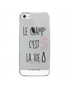 Coque iPhone 5/5S et SE Le Champ, c'est la Vie Transparente - Les Vilaines Filles