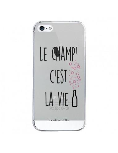 Coque Le Champ, c'est la Vie Transparente pour iPhone 5/5S et SE - Les Vilaines Filles