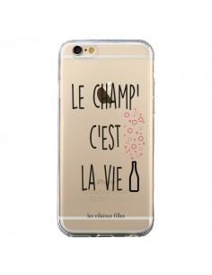 Coque iPhone 6 et 6S Le Champ, c'est la Vie Transparente - Les Vilaines Filles