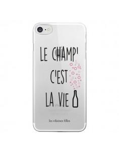 Coque Le Champ, c'est la Vie Transparente pour iPhone 7 et 8 - Les Vilaines Filles