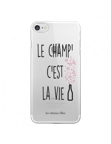 Coque iPhone 7 et 8 Le Champ, c'est la Vie Transparente - Les Vilaines Filles