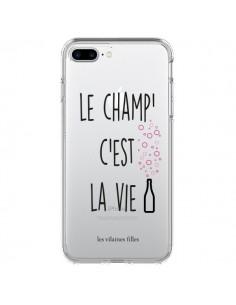Coque iPhone 7 Plus et 8 Plus Le Champ, c'est la Vie Transparente - Les Vilaines Filles