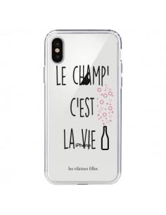 Coque Le Champ, c'est la Vie Transparente pour iPhone X - Les Vilaines Filles