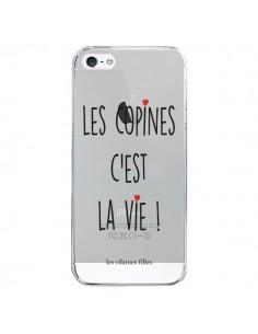 Coque Les copines, c'est la vie Transparente pour iPhone 5/5S et SE - Les Vilaines Filles