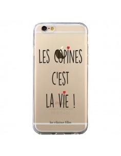 Coque iPhone 6 et 6S Les copines, c'est la vie Transparente - Les Vilaines Filles