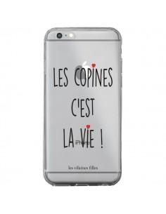 Coque iPhone 6 Plus et 6S Plus Les copines, c'est la vie Transparente - Les Vilaines Filles