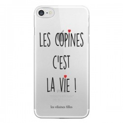 Coque iPhone 7 et 8 Les copines, c'est la vie Transparente - Les Vilaines Filles