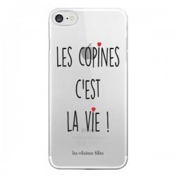 Coque Les copines, c'est la vie Transparente pour iPhone 7 et 8 - Les Vilaines Filles
