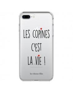 Coque iPhone 7 Plus et 8 Plus Les copines, c'est la vie Transparente - Les Vilaines Filles