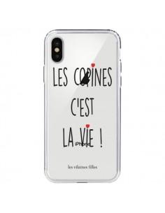 Coque iPhone X et XS Les copines, c'est la vie Transparente - Les Vilaines Filles