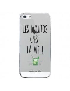 Coque iPhone 5/5S et SE Les Mojitos, c'est la vie Transparente - Les Vilaines Filles