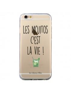 Coque iPhone 6 et 6S Les Mojitos, c'est la vie Transparente - Les Vilaines Filles