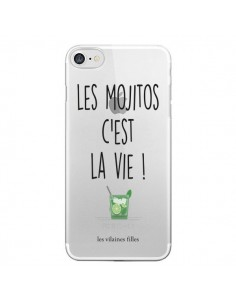 Coque iPhone 7 et 8 Les Mojitos, c'est la vie Transparente - Les Vilaines Filles