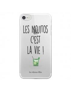Coque Les Mojitos, c'est la vie Transparente pour iPhone 7 et 8 - Les Vilaines Filles