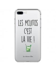 Coque iPhone 7 Plus et 8 Plus Les Mojitos, c'est la vie Transparente - Les Vilaines Filles