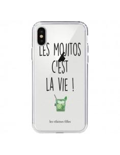 Coque iPhone X et XS Les Mojitos, c'est la vie Transparente - Les Vilaines Filles