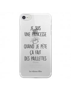 Coque Je suis une princesse quand je pète ça fait des paillettes Transparente pour iPhone 7 et 8 - Les Vilaines Filles