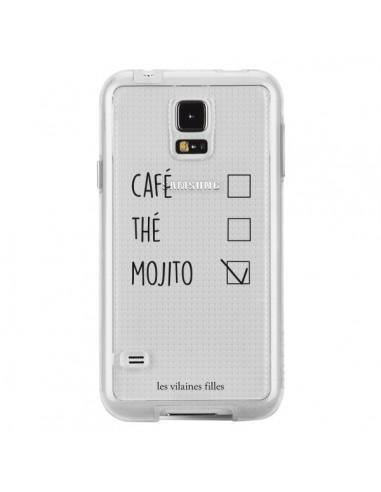 Coque Café, Thé et Mojito Transparente pour Samsung Galaxy S5 - Les Vilaines Filles