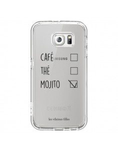 Coque Café, Thé et Mojito Transparente pour Samsung Galaxy S6 - Les Vilaines Filles