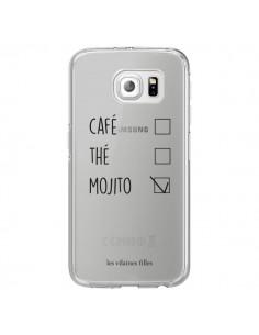 Coque Café, Thé et Mojito Transparente pour Samsung Galaxy S6 Edge - Les Vilaines Filles