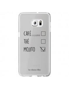 Coque Café, Thé et Mojito Transparente pour Samsung Galaxy S6 Edge Plus - Les Vilaines Filles