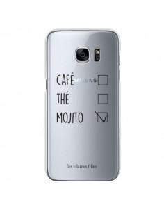 Coque Café, Thé et Mojito Transparente pour Samsung Galaxy S7 - Les Vilaines Filles