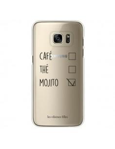 Coque Café, Thé et Mojito Transparente pour Samsung Galaxy S7 Edge - Les Vilaines Filles
