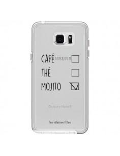 Coque Café, Thé et Mojito Transparente pour Samsung Galaxy Note 5 - Les Vilaines Filles