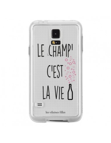 Coque Le Champ, c'est la Vie Transparente pour Samsung Galaxy S5 - Les Vilaines Filles