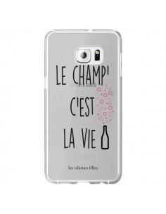 Coque Le Champ, c'est la Vie Transparente pour Samsung Galaxy S6 Edge Plus - Les Vilaines Filles