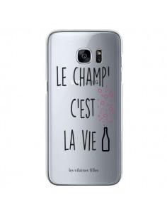 Coque Le Champ, c'est la Vie Transparente pour Samsung Galaxy S7 - Les Vilaines Filles