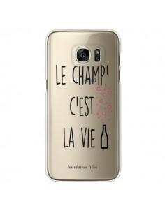 Coque Le Champ, c'est la Vie Transparente pour Samsung Galaxy S7 Edge - Les Vilaines Filles