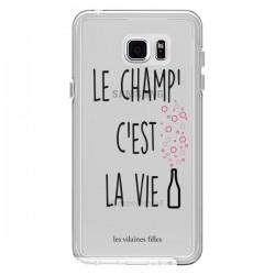 Coque Le Champ, c'est la Vie Transparente pour Samsung Galaxy Note 5 - Les Vilaines Filles
