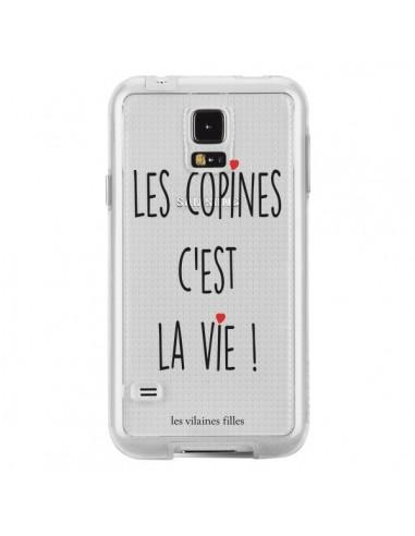 Coque Les copines, c'est la vie Transparente pour Samsung Galaxy S5 - Les Vilaines Filles