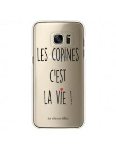 Coque Les copines, c'est la vie Transparente pour Samsung Galaxy S7 Edge - Les Vilaines Filles